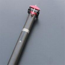 FCFB черный матовый стэнчарт углеродное волокно шоссейный велосипед стойка для велосипедного сиденья стержень 33,9/34,9*580 мм части велосипеда сиденья