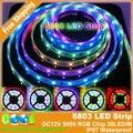 6803 Мечта Magic Color 5050 RGB Цифровой СВЕТОДИОДНЫЕ Ленты, DC12V 30LED/м IP67 Водонепроницаемый Интеллектуальная СВЕТОДИОДНАЯ Лента.