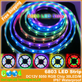 6803 Dream Magic Color 5050 RGB Digital LED Strip,DC12V 30LED/m IP67 Waterproof Intelligent LED Strip.