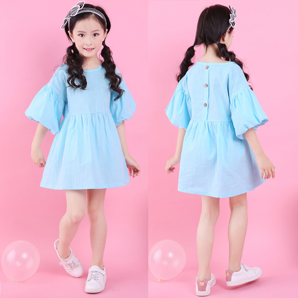Todder Girls Clothing Summer Dress 4 5 6 7 8 10 years Kid Clothes Cotton Stretch Princess Dress Fashion Stripe Casual Dresses
