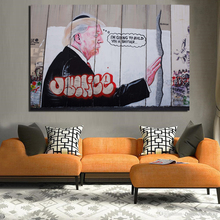 Banksy Street Art Poster Vintage Canvas Painting Living Room Home Decor Modern Wall Oil Posters Pictures Framework