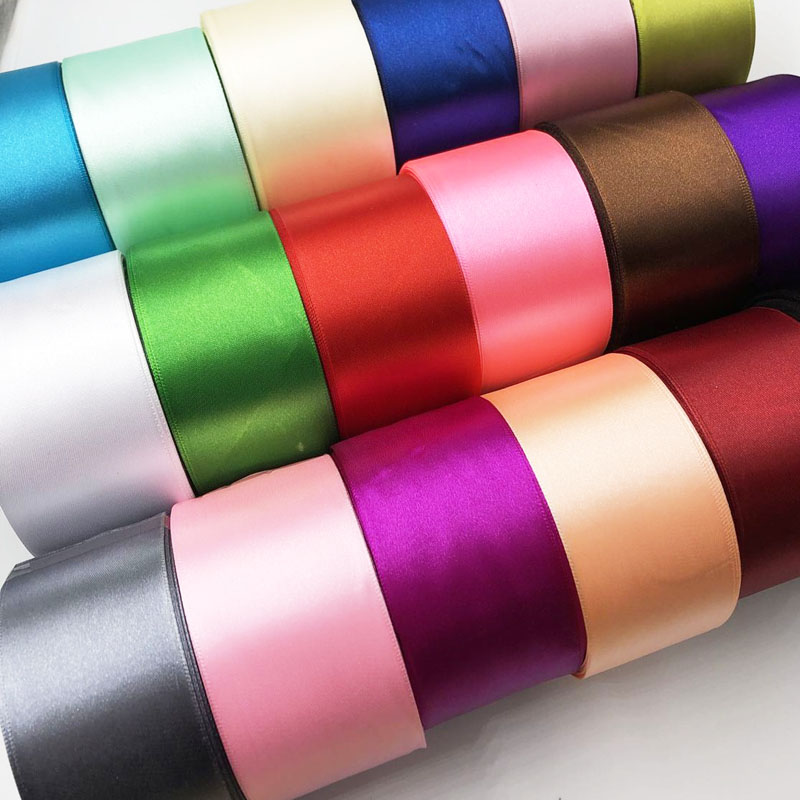 5 meters 2 50mm Colors Solid Color Satin Ribbons image