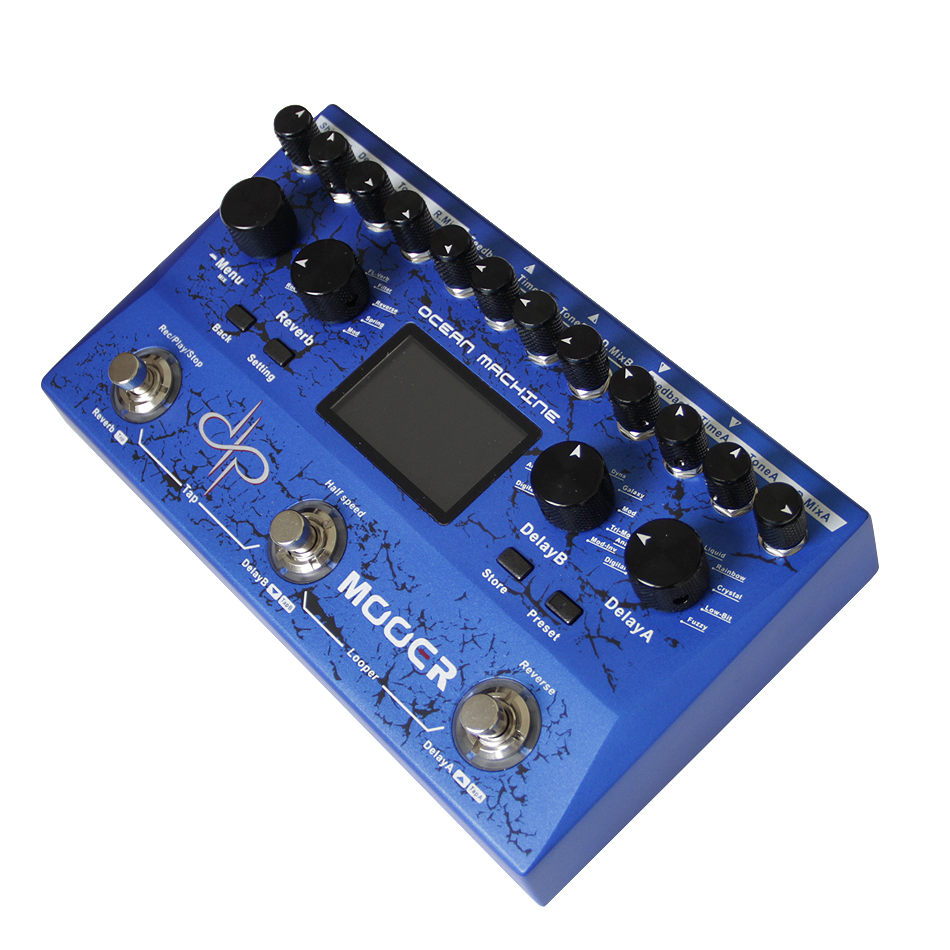 Mooer Ocean Machine Professional High Fidelity Delay Reverb Looper Guitar Effect Pedal 15 dDifferent Delay Types