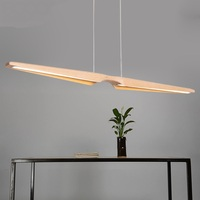 Nordic Restaurant Restaurant pendant light wooden wood office creative personality LED strip pendant lamp ya881