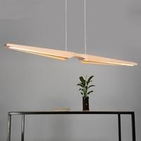 Nordic ресторан подвесной светильник Деревянный Офис творческая личность светодиодный полосы подвесной светильник ya881