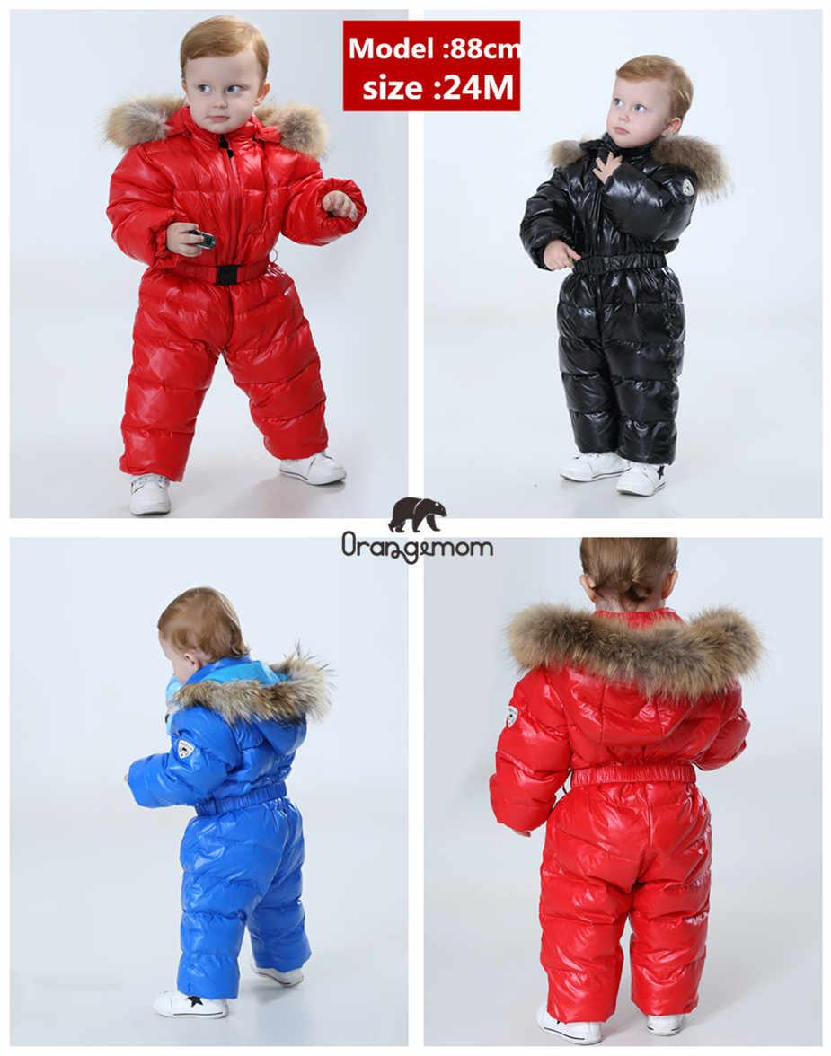 Orangemom official store kombinezon zimowy dla dzieci, ciepłe kurtki i płaszcze kurtki dla dziewczynek, odzież dla niemowląt chłopcy parka odzież na śnieg