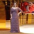 Очаровательная Светло-Фиолетовый Плюс Размер мать Невесты Платья с Рукавом Половина Кружева Матери Платье для Свадебной Церемонии