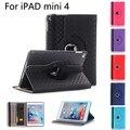 Кожаный Чехол Для Apple iPad mini 4 Tablet Case 360 Вращающийся Книга стенд Smart Cover с карты держатель для iPad mini 4 Чехол + Подарки