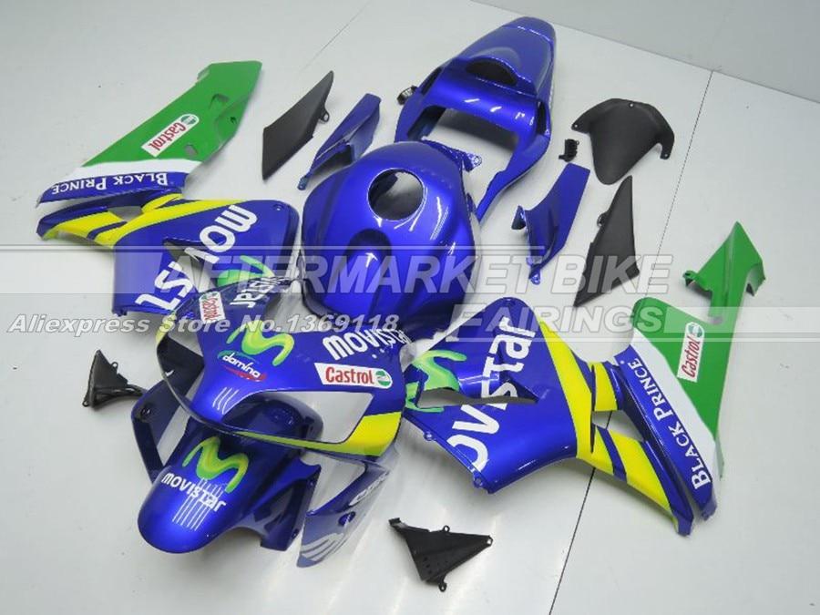 Литья под давлением Road обтекатели комплект для Honda CBR600RR 2003 2004 CBR 600 RR 03 04 Movistar ABS зализа