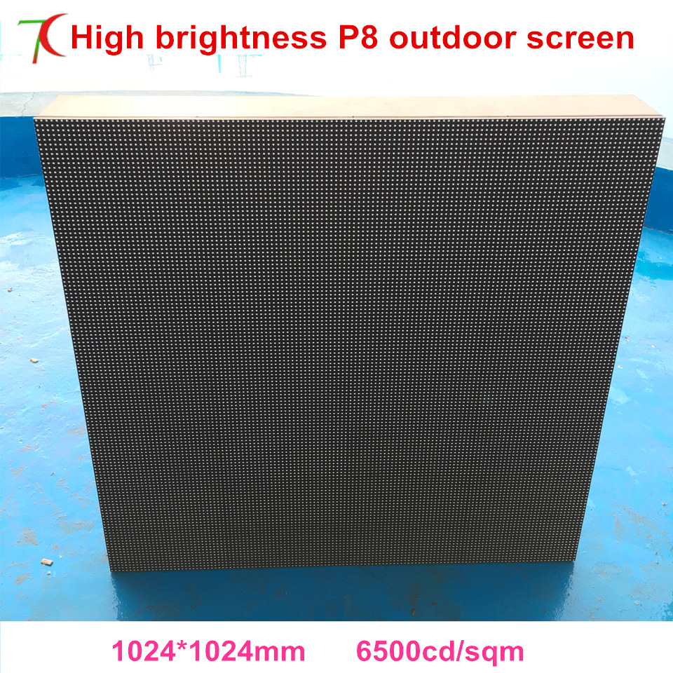 P8 outdoor high brightness smd waterproof cabinet led display screen,6500cd/sqm,smd3535 ...