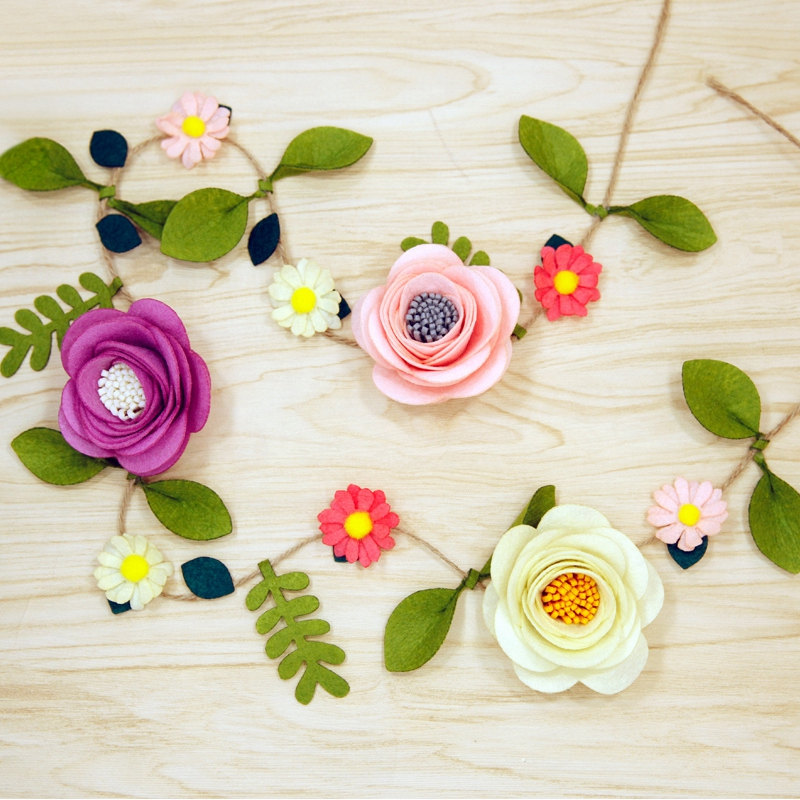 Felt Flowers Handmade Artificial Flowers Vines Craft Kits