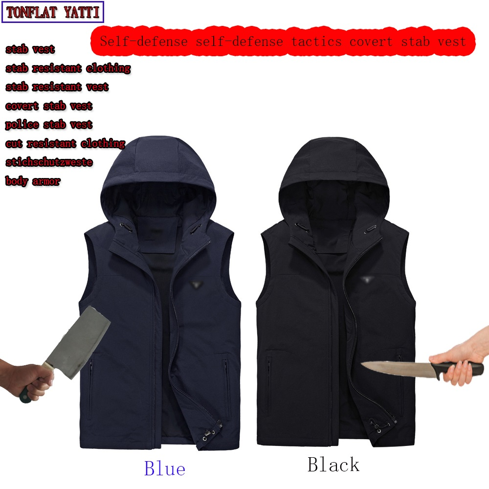 Self-Defense Tactical Anti-stab Cut Imitation Covert Stab Vest Military Swat Plus Velvet Protective Clothing Schutzweste