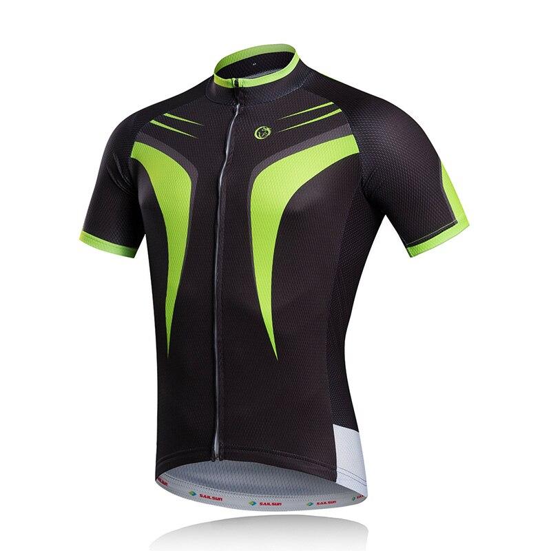 Prix pour Hommes chauds Vélo Jersey Top Noir Vert Équipe Vélo Vêtements Pro VTT Ropa Ciclismo Cyclisme Usure Vélo Chemises Respirant
