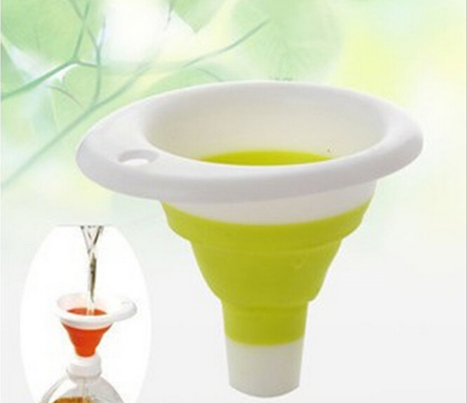 1PC Silicone Gel Foldable Collapsible Style Funnel Hopper Kitchen Cozinha Cooking Tools Accessories Gadgets EKB 1352