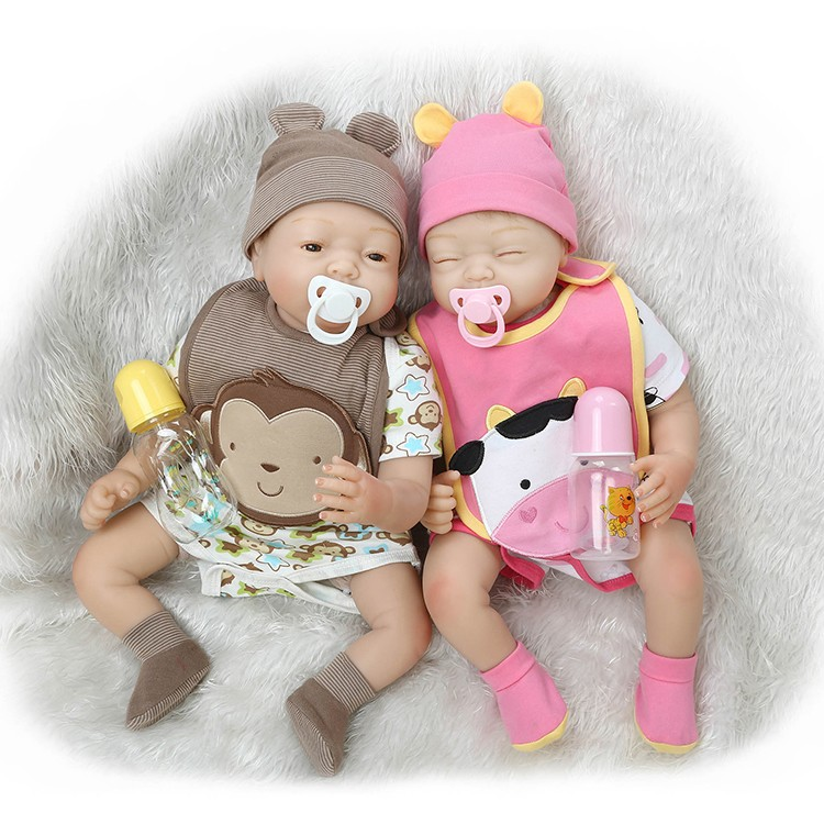 все цены на 55cm Soft Silicone Reborn Baby Sleeping Doll Lifelike Newborn Boy Baby-Reborn Doll Birthday Gift Girl Brinquedos Play House Toy