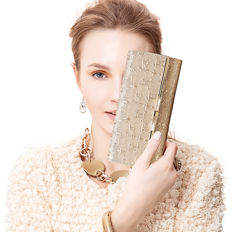 ФОТО LAORENTOU Fashion Cowhide Leather Bow Women Wallet Hasp Zipper Exclusive Design Pattern Leather Lady Wallet Card Holder Purse N5