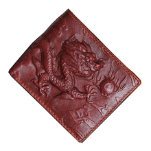Men Wallets 100% Genius Leather 2016 China Dragon 3D Embossing Male Clutch Famous Brand Purse Money Pocket Portfolio Coin Bags