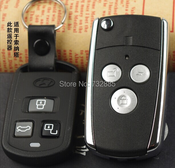 2015 New Updated For Hyundai Sonata Modified Folding Flip Remote Key Shell 3 Buttons