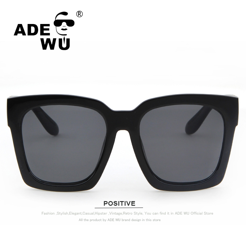 63942838387 ADE WU Famous Brand Designer Original Logo Oversize Sunglasses Women Big  Frame Sun Glasses For Ladies Mens Retro Shades Female-in Sunglasses from  Apparel ...