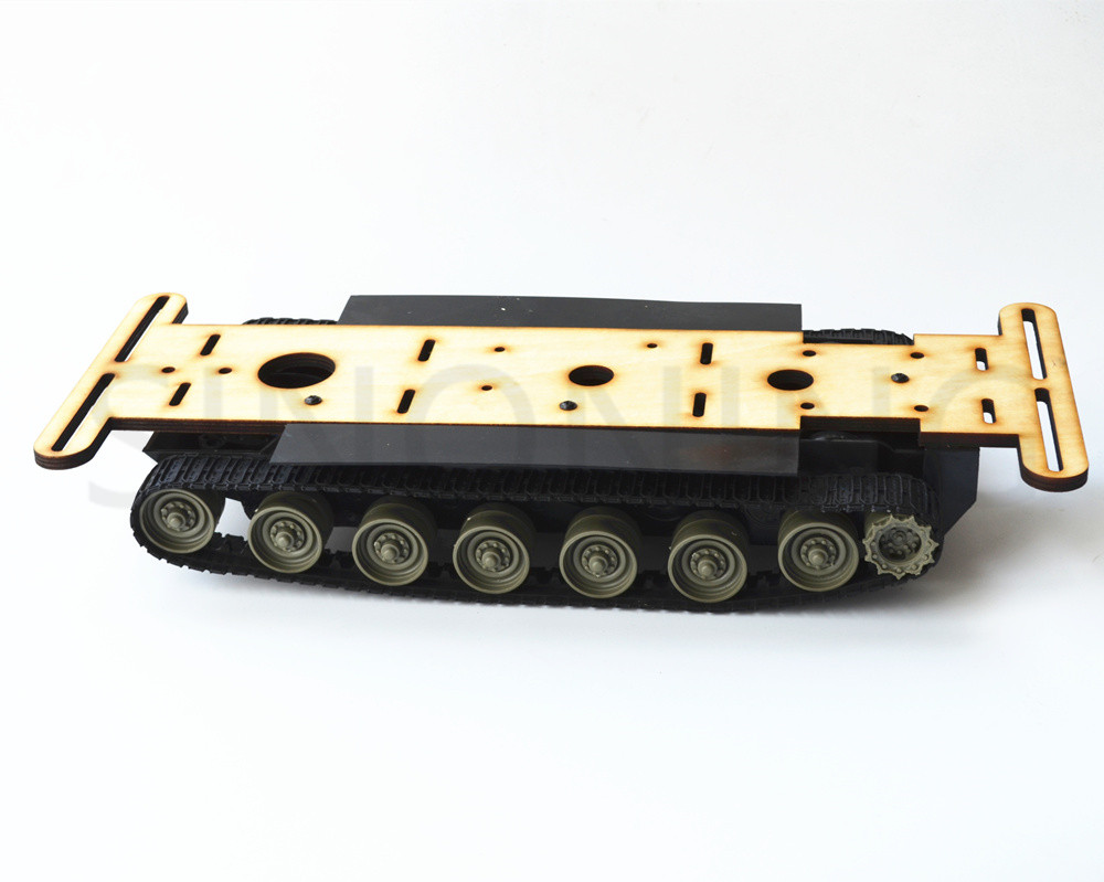 Crawler Tank Robot Chassis Platform wood plate for arduino L298N SN5400