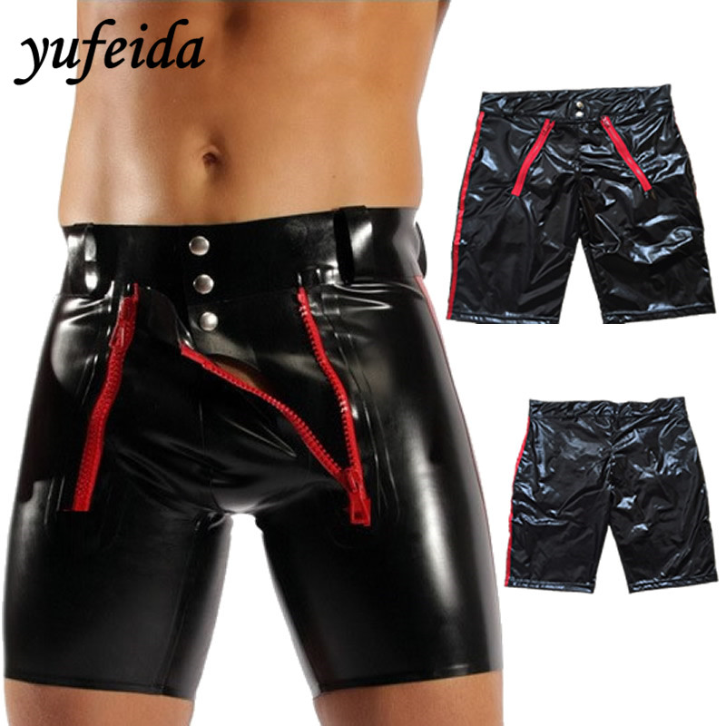 Man Boxers Shorts Cueca Novelty Underwear Mans Faux Leather Clothing Boxers Men Panties Undies Fashion Stage Underpants ...