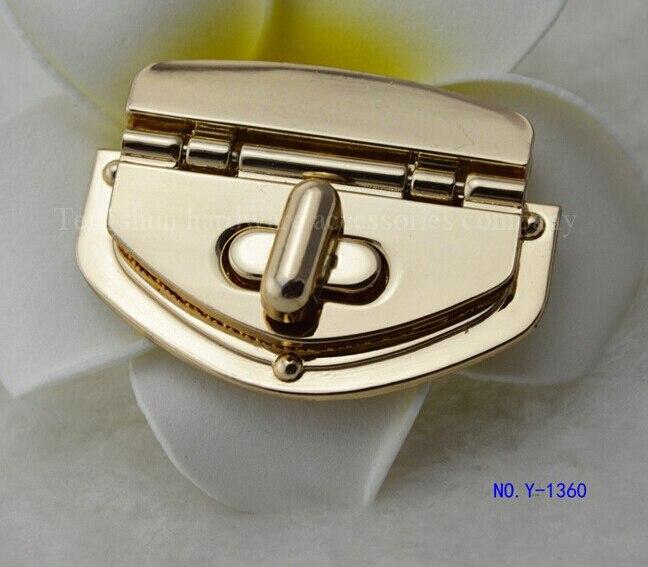 b00bd656731e2 الشحن مجانا حقيبة قفل (10 أجزاء وحدة) عالية الجودة السيدات حقائب جلدية الذهب  الأجهزة الاكسسوارات ديي سبائك تويست قفل
