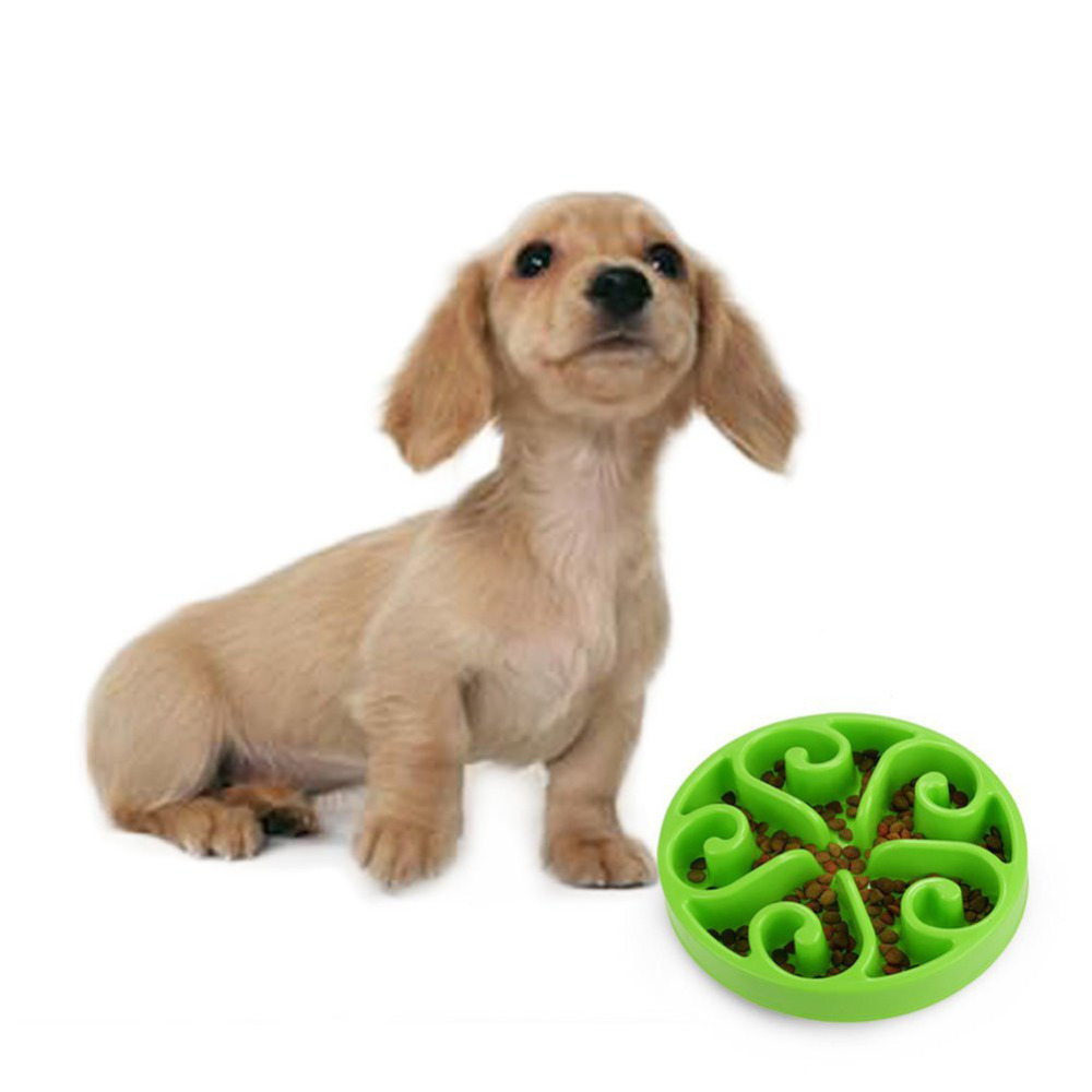 High Quality Pet Dog Feeding Plastic Bowls Fun Feeder Pet Dog Cat Food Slow Feeder Puppy Anti Choke Bowl