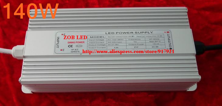 140w led driver, DC54V,3.0A,high power led driver for flood light / street light,IP65,constant current drive power supply