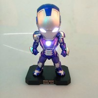 New hot Movie Figure 16 CM ACE Attack Iron Man 3 MK 42 Mark VII PVC Action Figure Collectible Model Toy with LED Light
