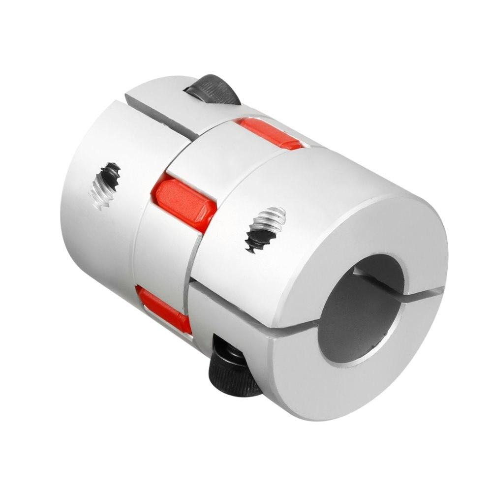 UXCELL Hot Sale Shaft Plum Shaped Coupling Coupler 40mm Diameter 55mm Length for Servo Motors, Spindle, Step Motor uxcell hot sale 1pcs l55xd40 servo stepped motor m6 12mm to 19mm shaft coupling bore flexible coupler joint wear resistant