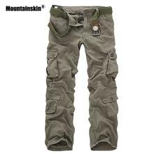 Mountainskin 男性の軍事マルチポケットパンツ屋外戦術的な緩いズボンハイキングキャンプ釣りクライミングブランド VA271