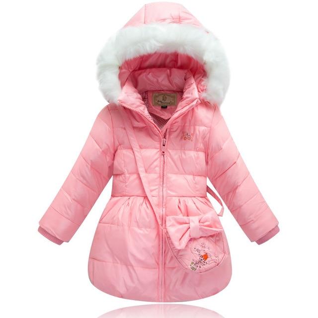 7b508f95b1e5 3 10 Y) Children Winter White Duck Down Coat Girls snowsuit baby ...