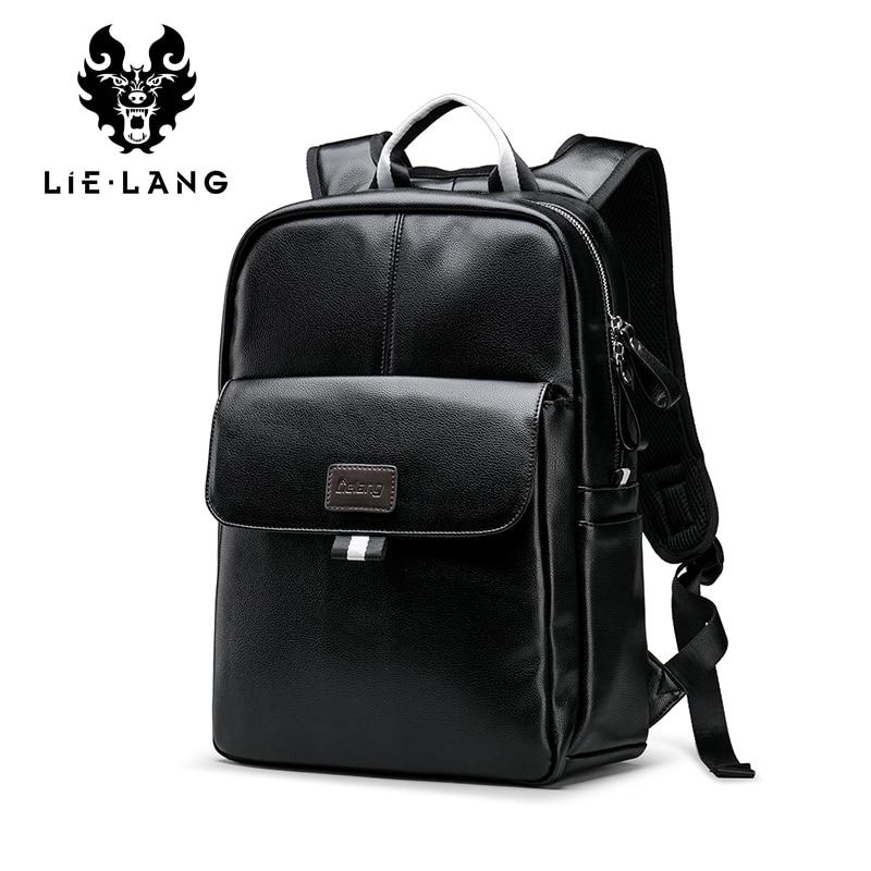 LIELANG Backpack Leather 2019 New Men Rucksack Fashion Laptop Schoolbags For Boys Mochila Escolar Leather Backpacks