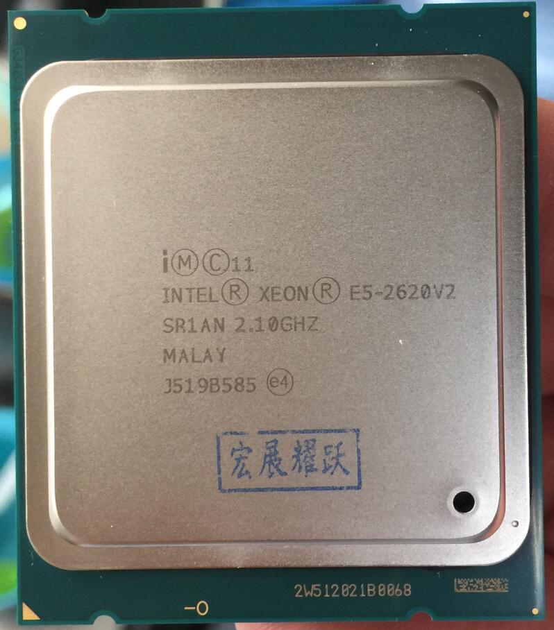 La computadora de la PC procesador Intel Xeon E5 2620 V2 CPU 2,1 LGA 2011 SR1AN 6-servidor central procesador e5-2620 V2 e5-2620V2 CPU