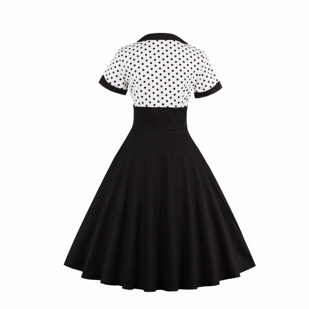 research black and white 70s style dress