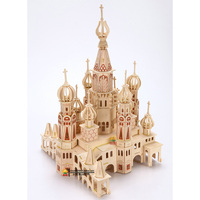 Saint Petersburg puzzle 3D building model wooden Children Adult toys handmade Puzzles toy kids gift