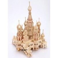 Saint Petersburg puzzle 3D building model wooden Children Adult toys handmade Puzzles toy kids gift