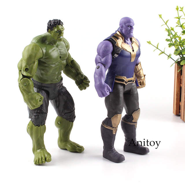 Us 95 18 Offmarvel Avengers Superhero And Supervillain Thanos Hulk Hulkbuster Iron Man Action Figure Toy Gift For Kids 17cm Infinity War In Action