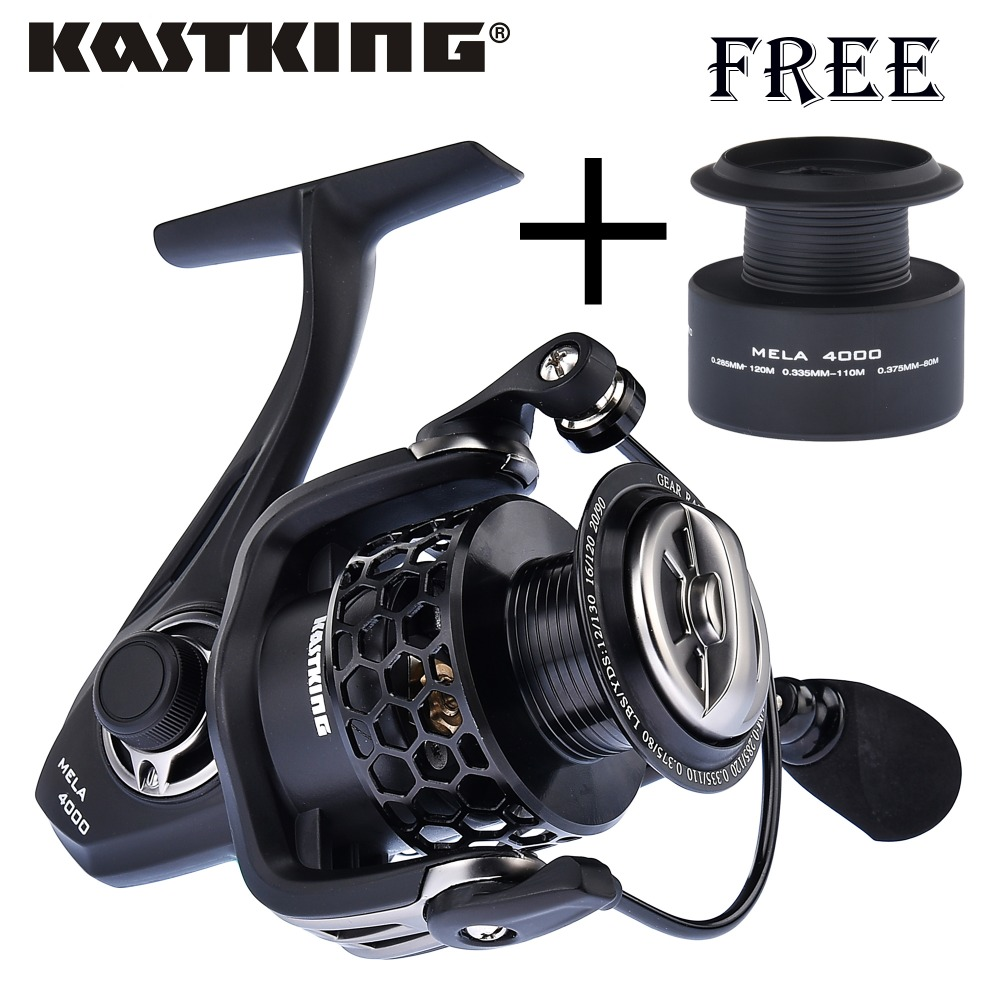 KastKing Mela series Lighter and Stronger Fishing Reel with Spare Spool 11 Ball Bearing Pesca Spinning