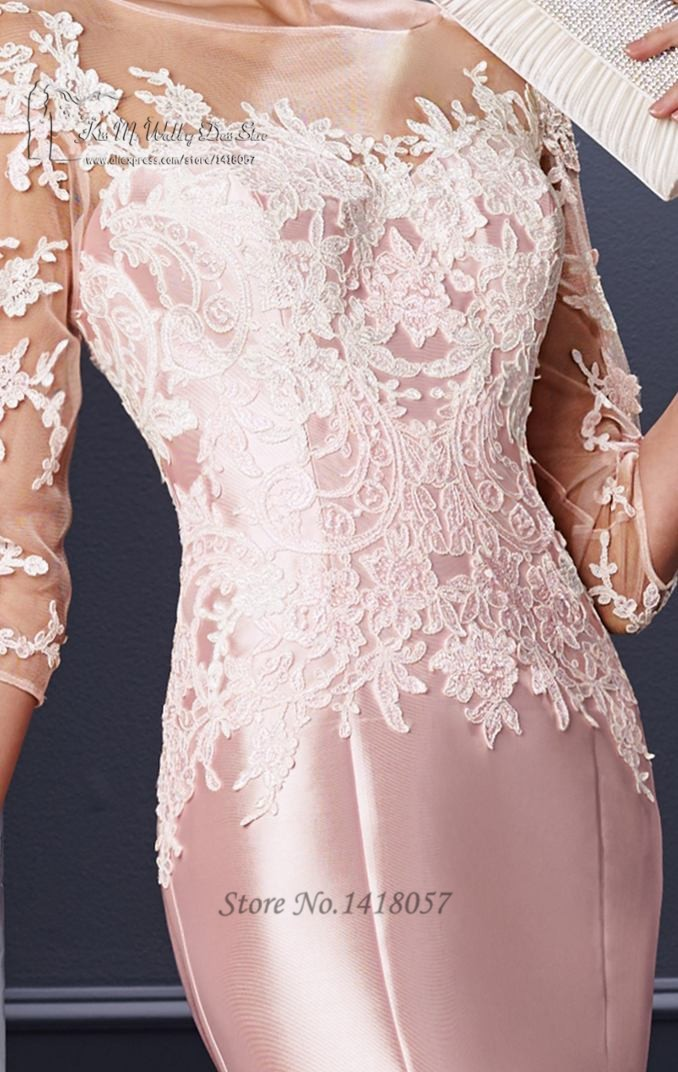 f532a06a8c Pink Formal Mother Groom Evening Gowns 2016 Lace Mothers of the ...