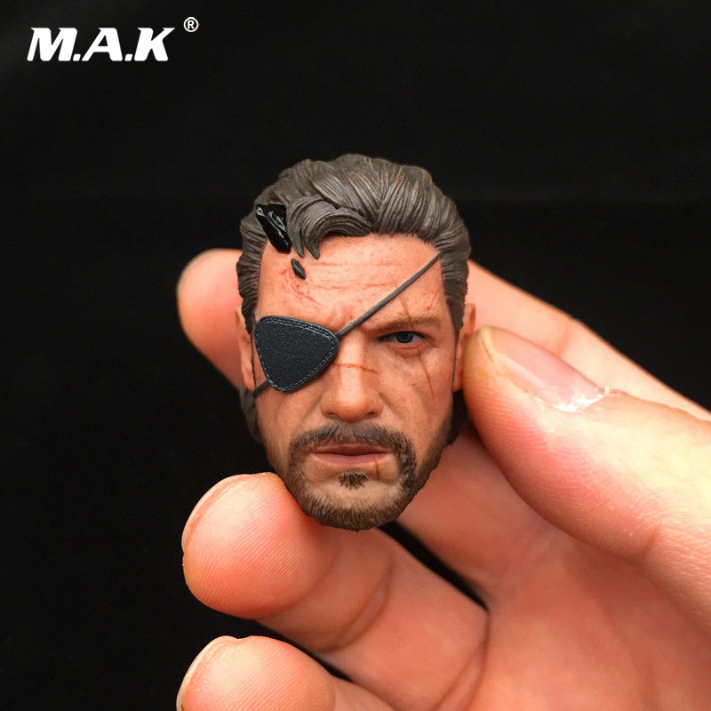 1/6 Scale Phantom legend V Ismael Male Head Sculpt Head Sculpt old snake Head Carving Model Collectible Doll Toys 1 6 scale male clothes suit the game of death bruce lee head sculpt