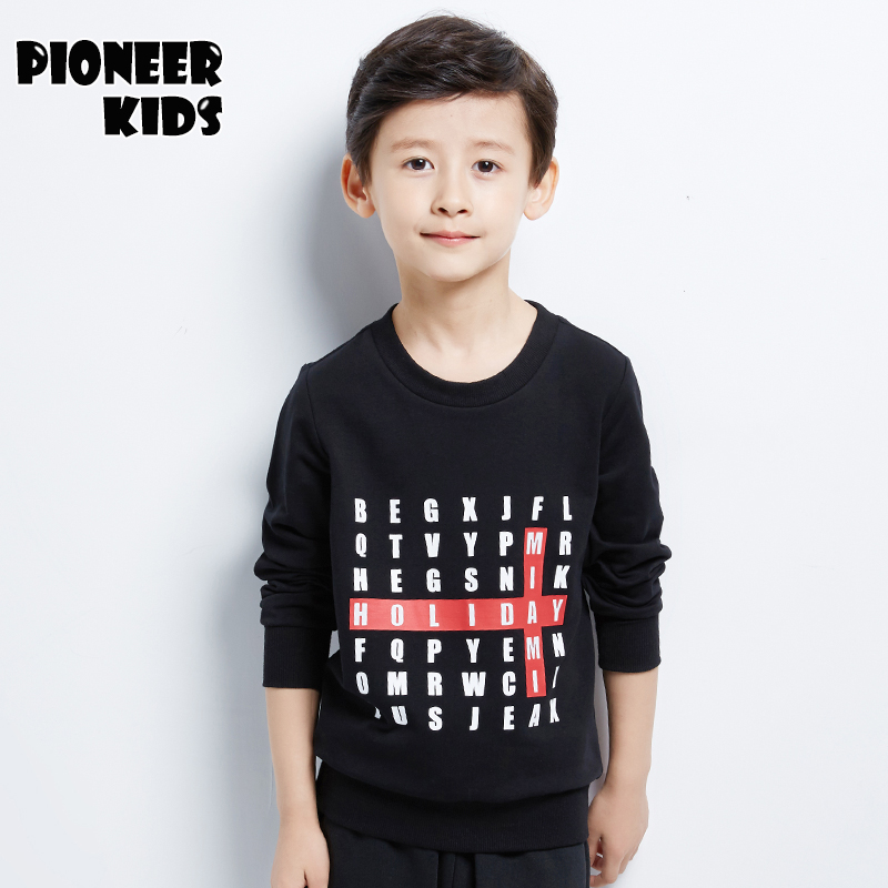 Pioneer Kids 2016 Newest Boys hoodies100 long sleeve cotton children s clothing tshirt autumn boy winter
