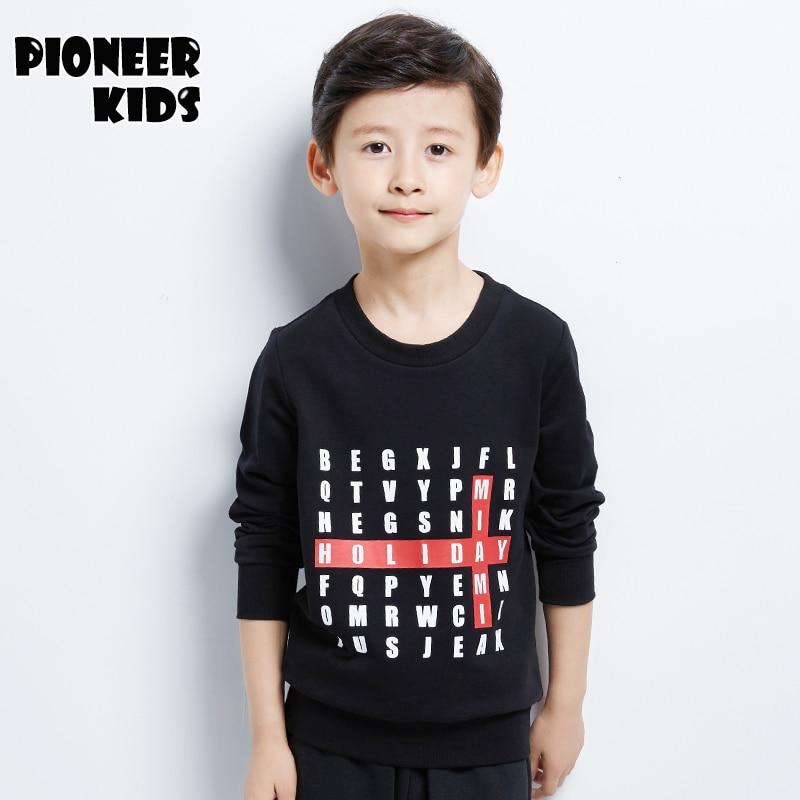 1d1b70d5f7 Pioneer crianças 2016 novos meninos hoodies100 % algodão de manga longa  camiseta roupa das crianças outono inverno menino além de veludo moletom