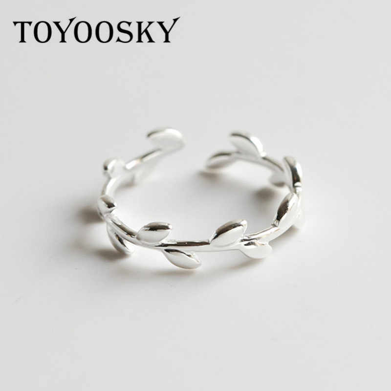 Womens 925 Sterling Silver Chunky Leaf Ring Size L.
