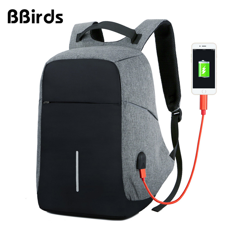 Bbirds Usb Charging Men 15 Inch Laptop Backpacks Waterproof Men's Business Bag Anti Theft Roubo Backpack Nylon School #2