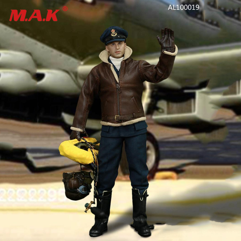 AL100019 1/6 Scale Full Set Action Figure Model WWII Royal Air Force Pilot Action Figure With Accessories for Fans Gift in stock al100019 1 6 full set military soldiers action figure model wwii royal air force pilot figure toy for collection gift
