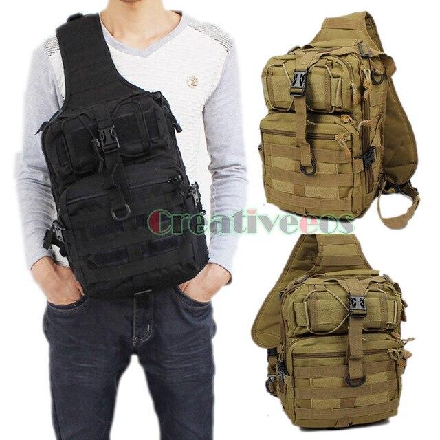 Hombres de nylon 600d militar viajes riding cross body mensajero del hombro back pack sling pecho bolsa a prueba de agua