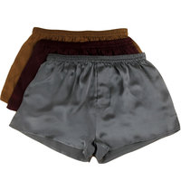 Wire Mulberry Silk Quality Male Silk Panties Trunk Cool Mid Waist Sand