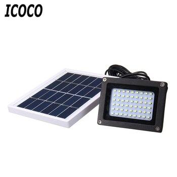 ICOCO 54 LEDs Floodlight Solar Powered Sensor Lamp Light Waterproof IP65 Outdoor Emergency Security Garden Street Flood Light фото
