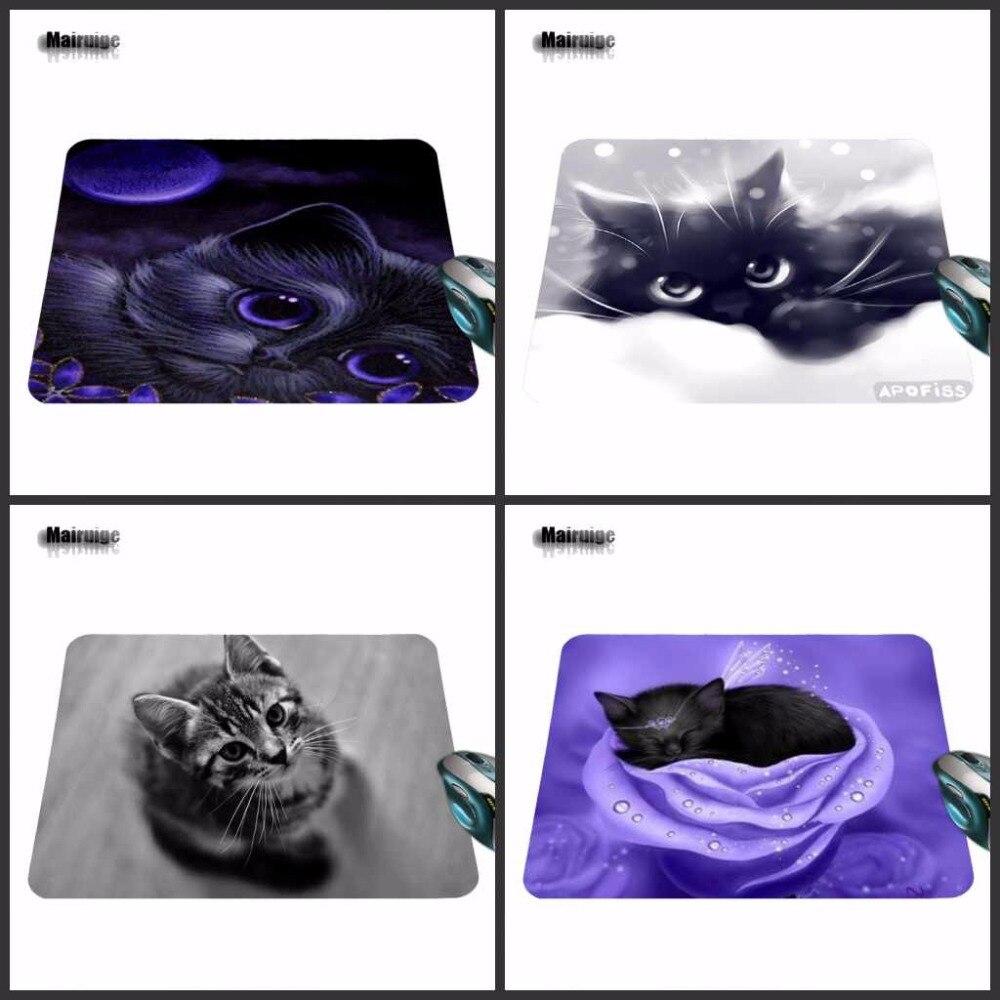 Mairuige Customized Luxury Printing 1 PC of Black Cat Eyes Stylish Gamer Gaming Comfort Optical Laser Non Slip PC Mouse Pad